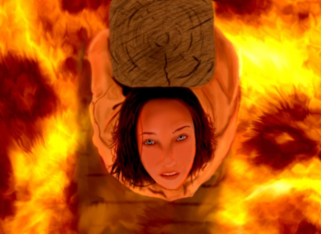 Joan of Arc Burning Picture_Google Art