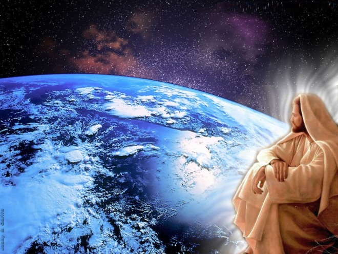 jesus-looking-down-on-the-earth