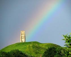 Rainbow Glastonbury Tor